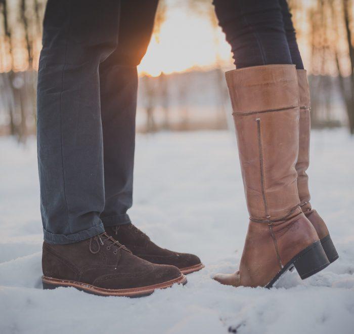 ζευγάρι στα χιόνια
