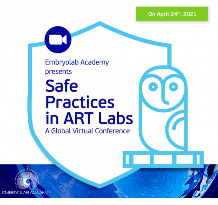 Safe Practices in Art Labs - Global Virtual Conference by Embryolab Academy poster